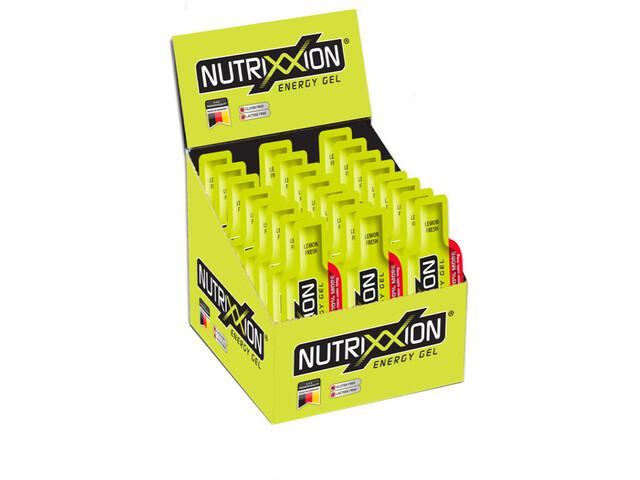 Nutrixxion Caja Geles Energéticos con cafeína 24 x 44g, Lemon Fresh